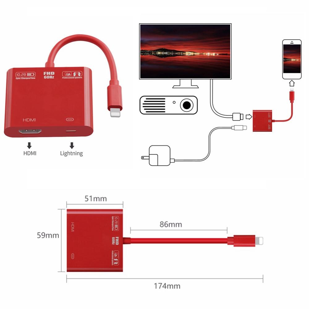 Upgrde Para El Relmpago Al Cable Del Adaptador De Hdmi Tv Hd 200 Watts Amplifier Circuit Electronic Project Using Tda8920bth Video Converter Iphone X 8 7 Ms 6 S Ipad Serie 1080 P 60hz