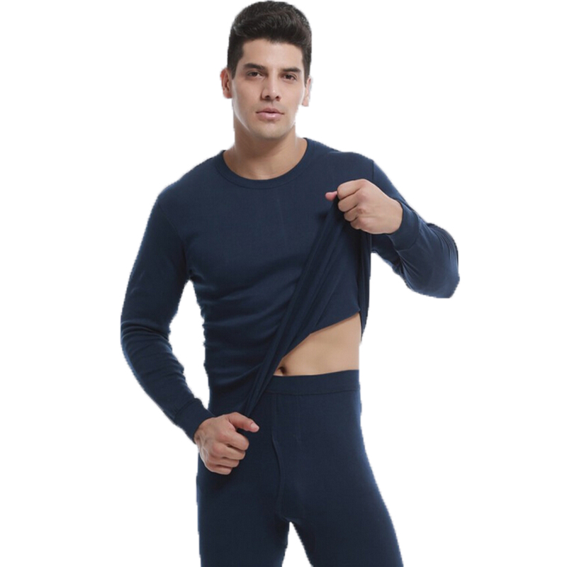Winter Tights Men Warm Tops and Pants Cotton Wool Sexy Thermal Underwear Sets Male Suit Underwear Long Johns Plus Size XXXL