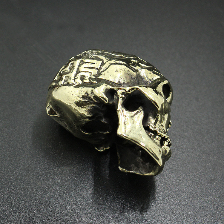 Pure Copper Skull Small Ornaments Brass Solid Skull Retro Decoration Gift Processing