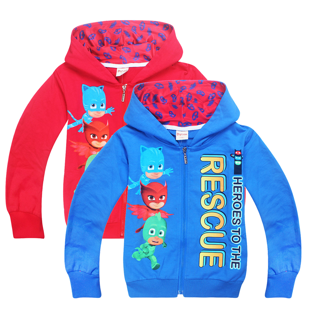 New arrived Children Spring Clothing PJ Long Sleeve MASKS T-shirts Boys/Girls Mask Hoodies Sweatshirts Cotton Coats Outwears