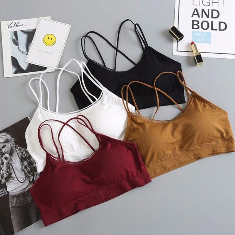 Yoga Wear For Women Sports Bra Top Running Tops Fitness Stretch Sports Top Bra Wire Free Cotton Sportswear Gym Bra Underwear