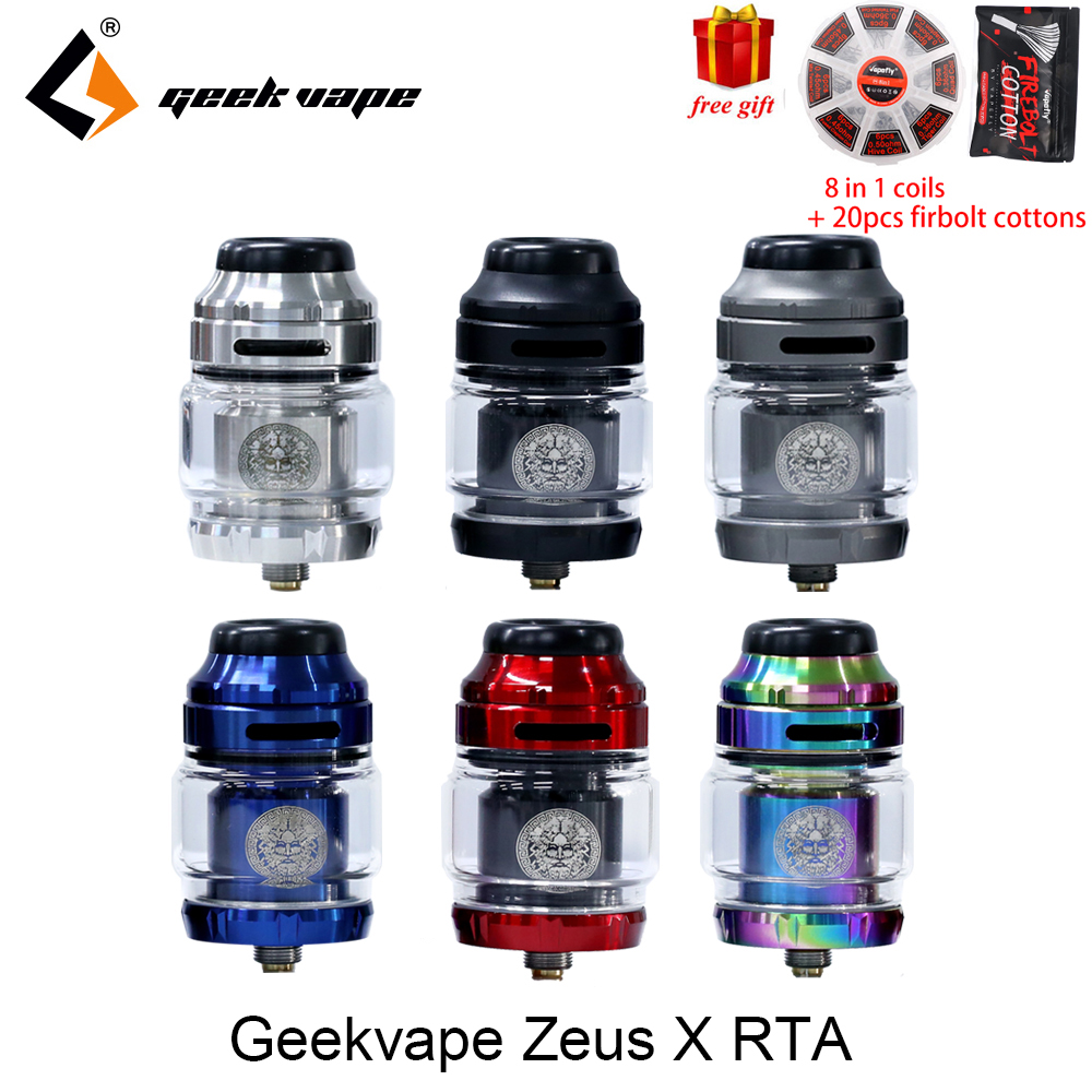 Big verkauf Geekvape Zeus X RTA 4,5 ml tank 510 gewinde vape tank fit aegis mod verdampfer zerstäuber mit DIY werkzeug spule