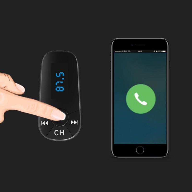Car MP3 Player Bluetooth FM Transmitter Hands-free Car Kit Radio Modulator Dual USB Charger + Auto Sleep Power Off
