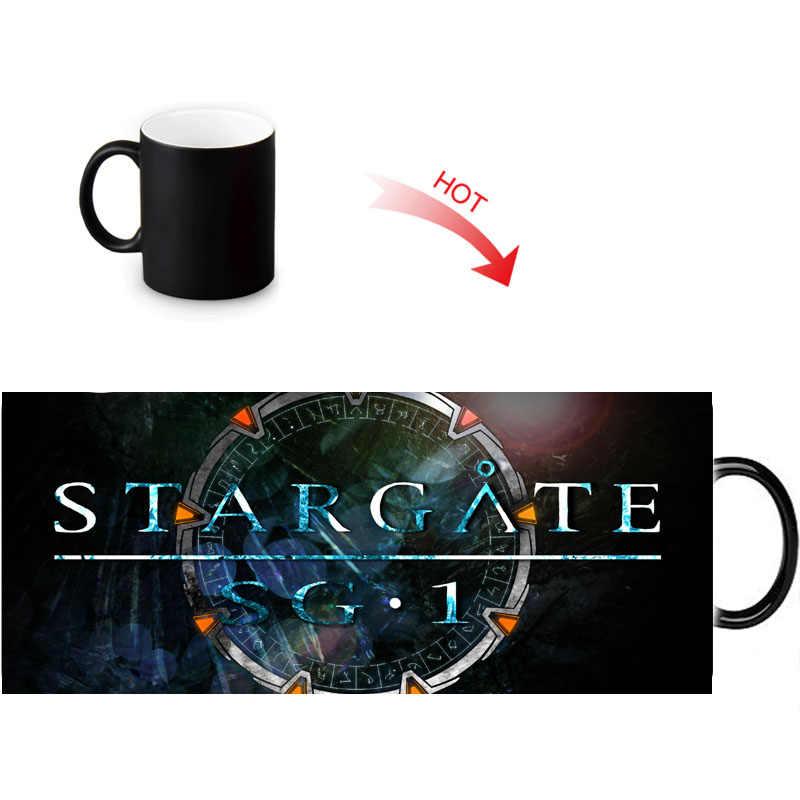 Stargate Pattern Morphing Color Customized Changing Fun Gift Mugs Idea Mug Magic Cup Milk Morph 350ml Coffee Tea uikOXTPZ