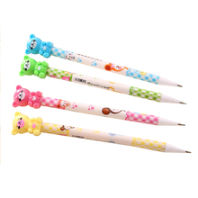 0.7mm Plastic Drawing Mechanical Pencil Bear Automatic Pens Writing Stationery School Supplies Joy Corner