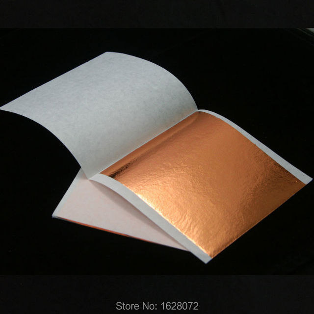 500 sheets Taiwan Rose gold leaf for gilding furniture gold foil,80x85mm