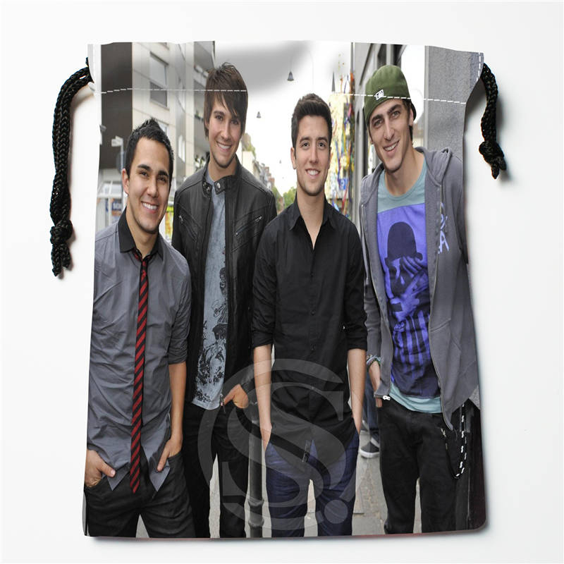 T#!k98 New Big Time Rush-in Cologne Germany Custom Printed  Receive Bag Compression Type Drawstring Bags Size 18X22cm 7&12ft-k98