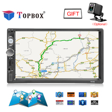 Topbox 7010G 2 Din Autoradio GPS Navigation 7 Inch Car Radio Bluetooth USB FM Radio Car