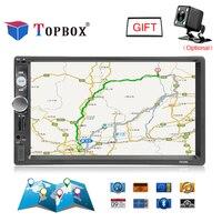 Topbox 7010G 2 Din Autoradio GPS Navigation 7 Inch Car Radio Bluetooth USB FM Radio Car MP5 Player Auto Electronic With Camera