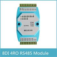 8DI/4RO 8 kanäle digital eingang 4 kanäle Relais Ausgang Remote IO modul Modbus RTU kommunikation RS485 isoliert erwerb rs485 adapter rs485 camerars485 -