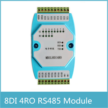 8DI/4RO 8 channels digital input 4 channels Relay Output Remote IO module Modbus RTU communication RS485 isolated acquisition image