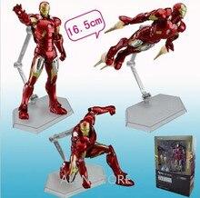 ALEN The Avenger Iron Man Age Of Ultron MK42 Mark XLIII Armor Figma 217 Marv Action Anime Figures Kids Gifts Toys 16cm