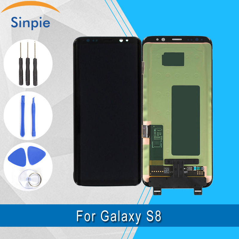 Super Amoled LCD for Samsung Galaxy S8 LCD Original Display +Tools +Tempered Glass Touch Screen