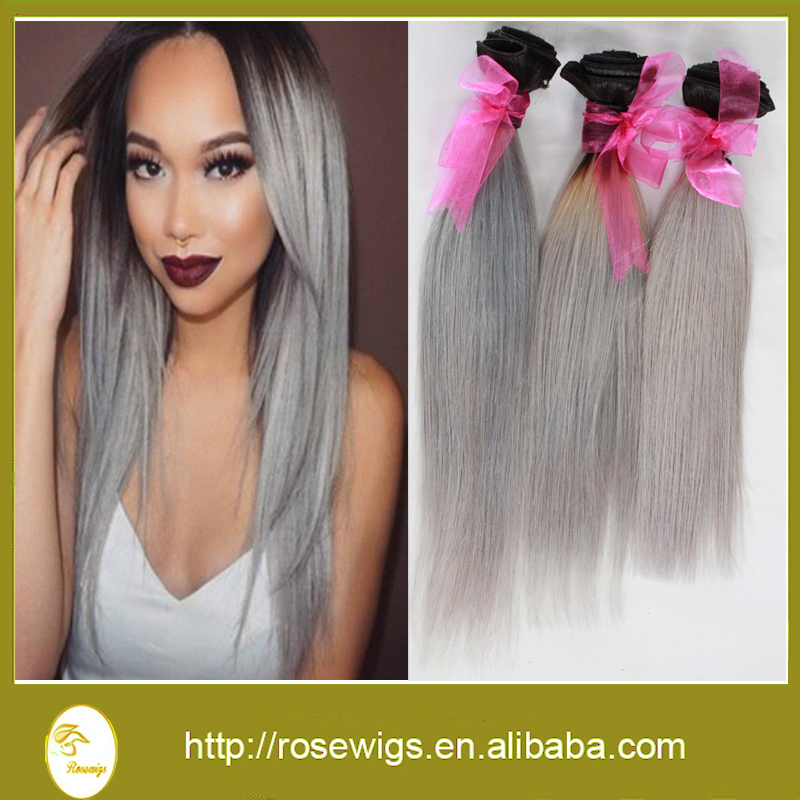 Grey human hair weave gallery hair extension hair highlights ideas 3pcslot 7a brazilian ombre hair extensions straight 1bgrey two 3pcslot 7a brazilian ombre hair extensions straight pmusecretfo Images