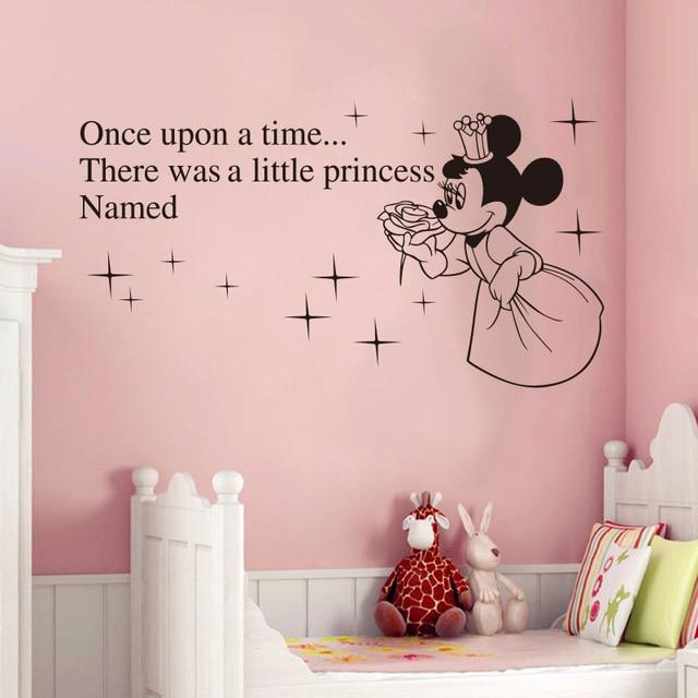 Creative Kawaii For Kids Rooms Custom Baby Names Minnie Mickey Mouse