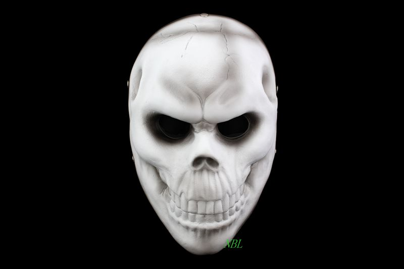 PAYDAY 2 Game Scary Skull Resin Masks Horror Payday2 Human Robber Ghost Full Face Mask Halloween Masquerade Party Cosplay Porps