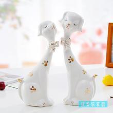 cute ceramic dog home decor crafts room decoration ceramic home ornaments porcelain garden animal figurines decorations недорого