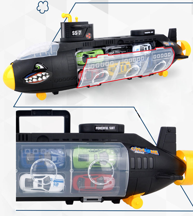 2018 Newest Big Size Metal Alloy Toy Vehicle Shark Submarine Mode Car Toys  For Children Toddler Car Toy Mini Auto