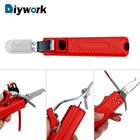 DIYWORK Cable Wire Stripper Knife Adjustable Rubber Handle 8-28mm Cable Stripper Insulation Stripper PVC
