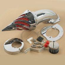 цены Motorcycle Chrome Spike Air Cleaner Intake Filter For Honda VTX 1300 1986-2012