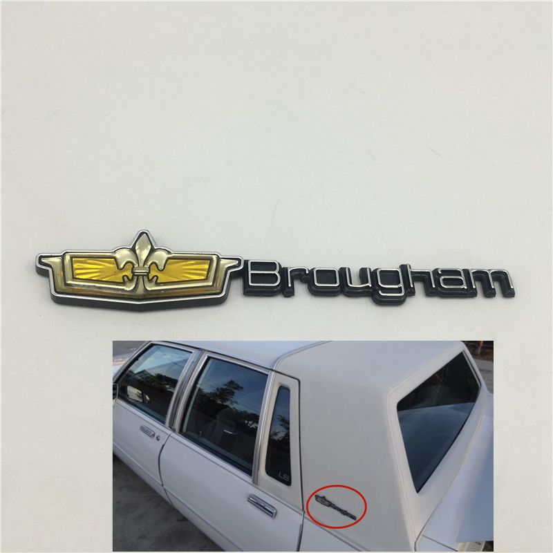 For Chevrolet CAPRICE CLASSIC Brougham Rear Side Fender Emblem Badge Nameplate Decal 1980-1990