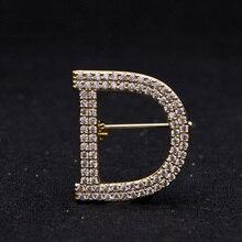 Letter Full Rhinestone Lapel Pins jewlery Broche Strass Brooches Broach For Women Bijouterias
