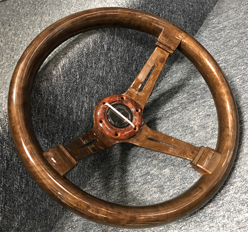 2019 car steering wheel / racing ABS steering wheel / wood grain universal 14 inch steering wheel