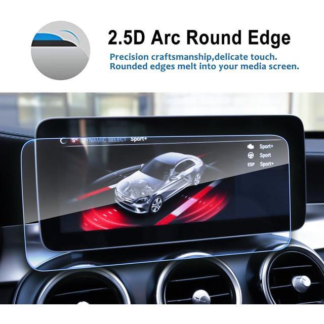 RUIYA protecteur décran pour Mercedes benz C-CLASS W205 10.25 pouces écran de navigation de voiture, 9H verre trempé écran de protection quotidienne