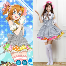 Lovelive! anime cosplay kousaka honoka disfraces dulces dress criada francesa el cafe guardapolvos para las mujeres vestidos