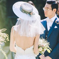 2017 Autumn Winter Luxury Fashion White Wedding Hat Good Quality Beautiful Design Hat for Bride Hot Selling