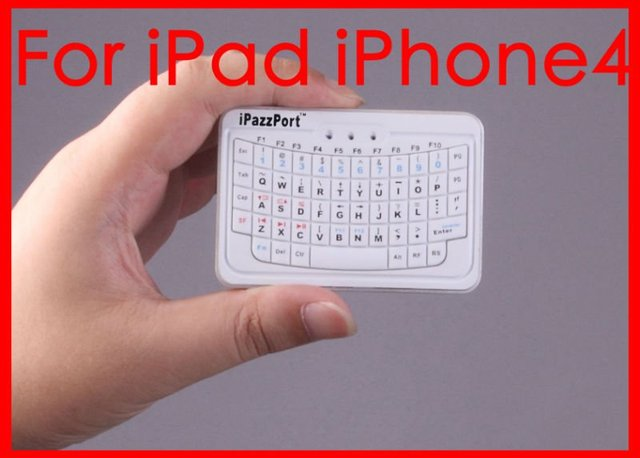 iPazzPort Bluetooth Mini Wireless Keyboard For iPad/PDA/iPhone 4s/4/5/MAC PC Factory outlet