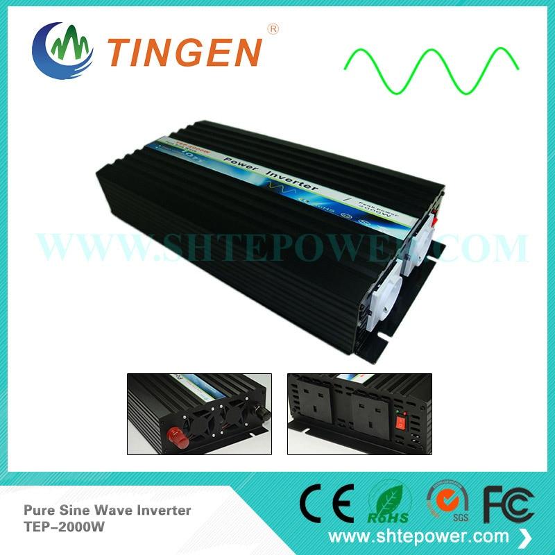 цена на 2KW TEP-2000W inverter Pure sine wave Output AC 110V 220V AU/US/UK socket off grid tie system DC 12V/24V/48V input 2000W