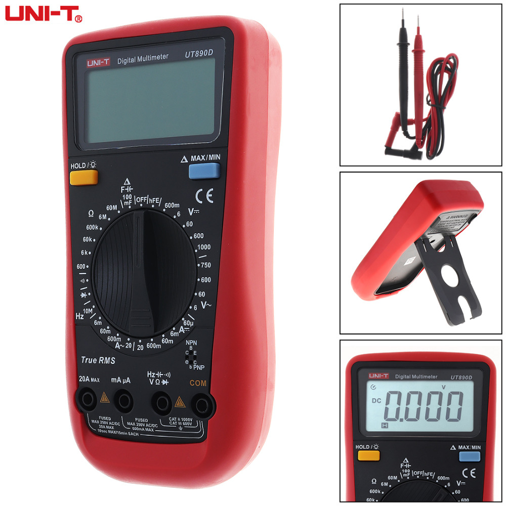 Digital Multimeter Circuit Tester Multi Voltmeter Three Phase Voltage Meter Lcd Ac Dc Display 5999 Counts High Precision Portable Handheld Current