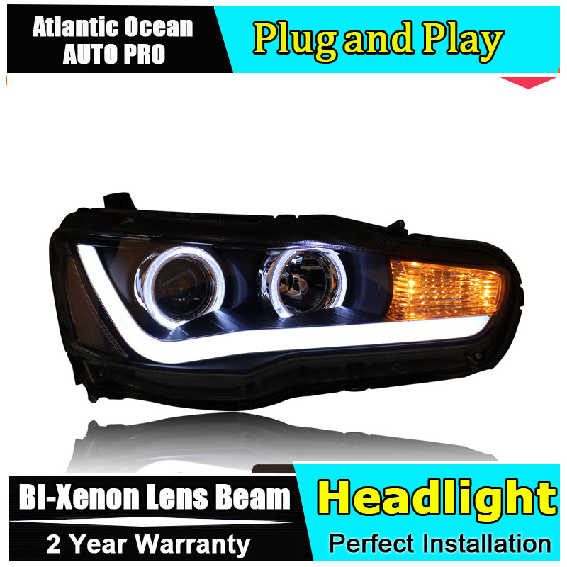 Auto.Pro Car Styling for Mitsubishi Lancer EX Headlights LED Headlight DRL Lens Lancer Double Beam HID KIT Xenon bi xenon lens