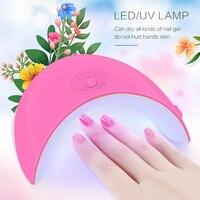36 w LED UV gel que cura la lámpara luz Esmaltes de uñas secadora Rosa Manicura pintura salón herramienta para todos los geles con 30 s/60 s botón