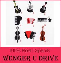 Fashion U disk pendrive cartoon guitar/violin/piano/harmonica/pendriver pen drive 8GB 32GB usb flash drive 512GB U DISK USB 2.0