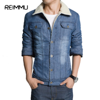 Reimmu Winter Jacket Men Hot Sale Fashion Brand Clothing Casual Men Jean Jacket Plus Size 5XL