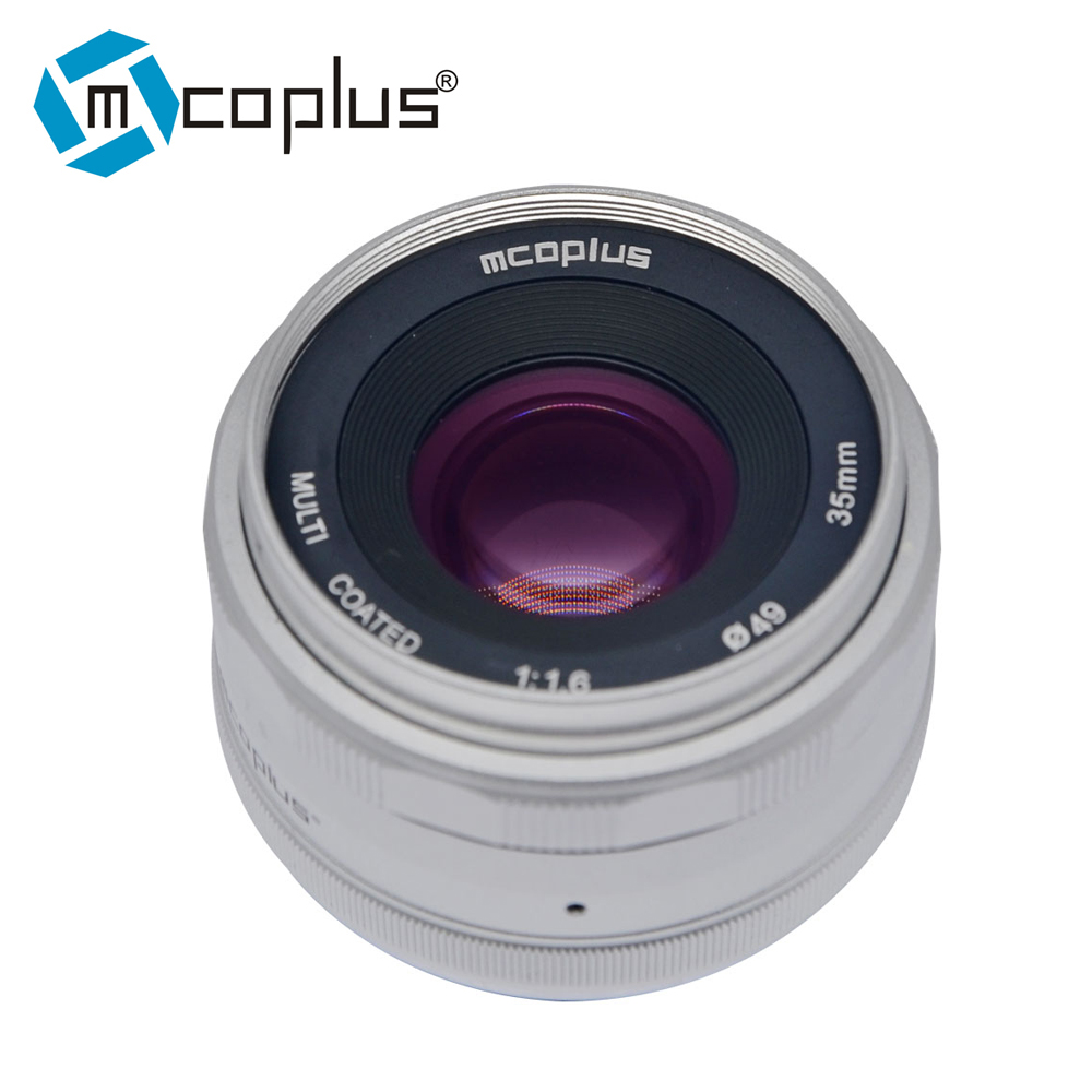Mcoplus 35mm F/1.6 Manual Large Aperture Manual Focus Lens for Canon-EF-M EOS M1 M2 M3 Camera цена и фото