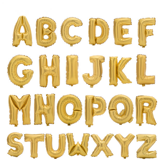 Online Shop 17inch Gold Alphabet Letter Balloons Foil Balloon Birthday New Year Wedding Anniversary Party Decoration Custom DIY Name