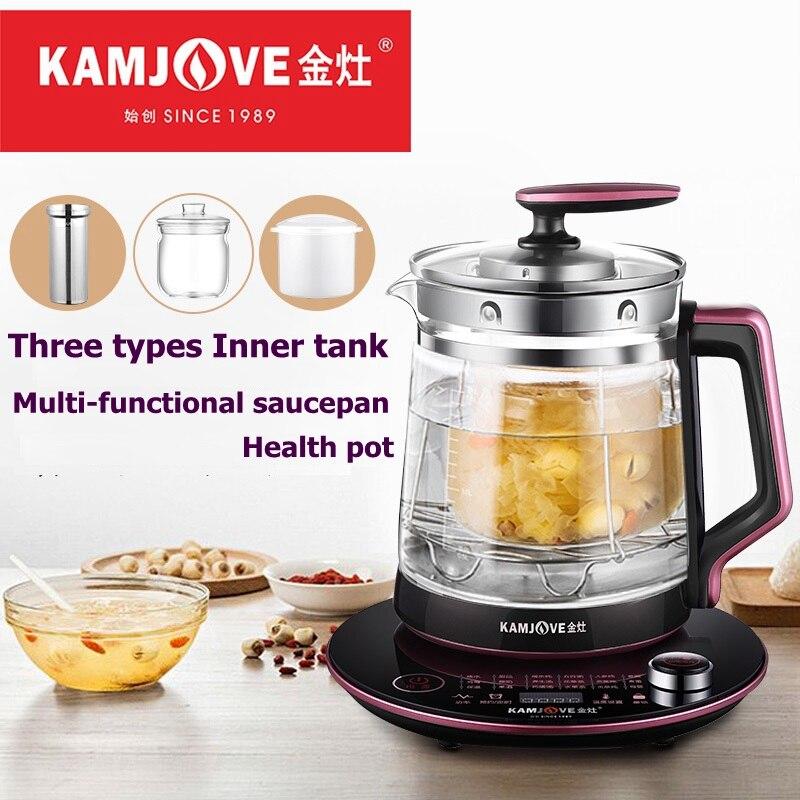 KAMJOVE HT-810 entièrement automatique pot à ragoût verre santé pot multi-fonctionnel fleur théière