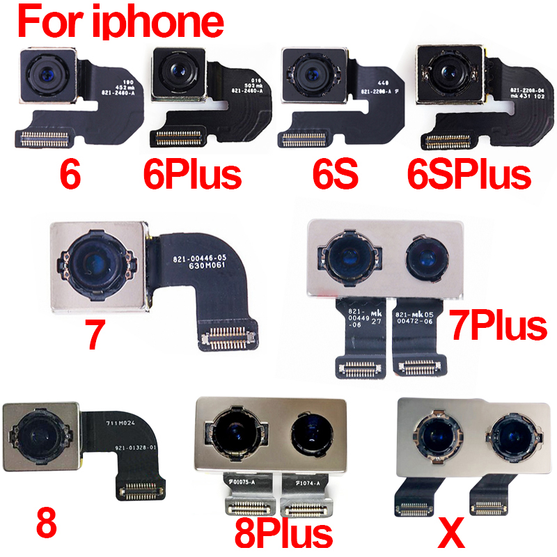 Original Back Rear Camera Flex Cable Ribbon Main Camera Module For IPhone 5 5S 5C 6 6S 6Plus 6SPlus 7 7Plus 8 8Plus Plus X