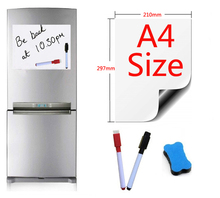Magnetic Whiteboard Fridge Magnets A4 Size 210x297mm Presentation Boards Home Kitchen Message Writing Sticker 2Pen1eraser