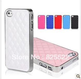 Free shipping Many Colors Luxury Bling With Leather Case Cover , cell phone case for iPhone 5retail package+1 screen protector