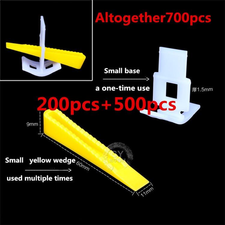 700 pcs Tile Leveling System 500 Clips 200 Wedges Tile Leveler Spacers Lippage For Tiling Tools