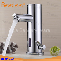 Free Shipping Brass Hot And Cold Automatic Water Tap Infrared Sensor Faucet Mixer Tap For Bathroom