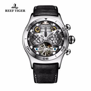 50e06dcfc Reef Tiger/RT Mens Sport Watches Automatic Skeleton Watch Steel Waterproof  Tourbillon Watch with Date Day reloj hombre RGA703