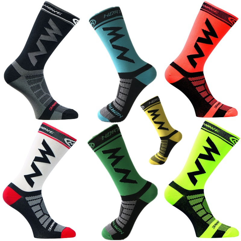 New Cycling Socks Men Women Sports Outdoor Black White Breathable Road Bikes Socks Running Outdoor Socks
