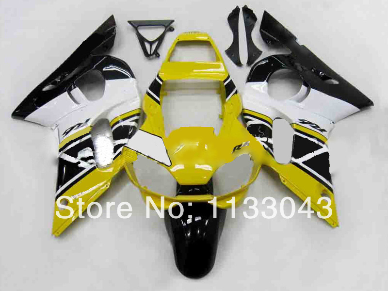 100%new yellow white black Fairing kit for Yamaha YZF-R6 98-02 YZF R6 98 99 00 01 02 YZF 600 R6 1998-2002 ABS fairing kits #5RA1