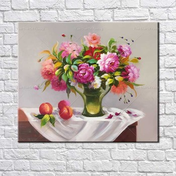 Style Painting Flower Garden Classic Handpainted Oil Painting On Canvas Wall Art Wall Pictures For Living Room Home Decor