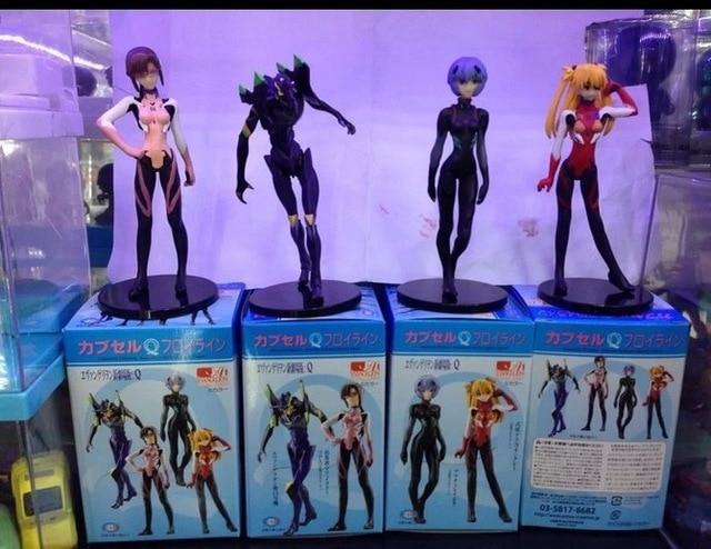 Free Shipping EVA Neon Genesis Evangelion Ayanami Rei Makinami Asuka PVC Action Figures Toys 4pcs/set EVFG003